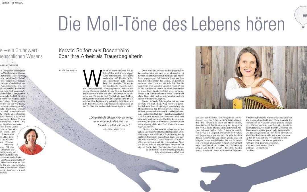 Die Moll-Töne des Lebens hören – Interview mit Kerstin Seifert, erschienen im OVB